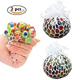 TFENG Squishy Balls, Farbige Mesh Anti-Stress-Ball, 6,5cm Grape Ball, Stress Angst Relief Spielzeug Bälle