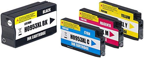 iColor Druckerpatronen: Tintenpatronen ColorPack für HP (ersetzt No.953XL), BK/C/M/Y (Multipack kompatible Druckerpatronen für Tintenstrahldrucker, HP)