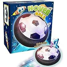 【Versión actualizada】Air Hover Ball Soccer Pelota Flotante Toy Football Balón de Fútbol Indoor Outdoor, Juguete con Música y LED Luces Regalo para Niños, Música Se Puede Apagar