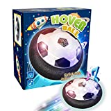 Rolytoy Fußball Air Power- Kinder Geschenk Spielzeuge für Kindergeburtstag Hover Power Ball Indoor & Outdoor Fußball mit LED Beleuchtung & Mustik ( On|Off ) für Kinder ab 3 4 5 6 7 Jahr Alt
