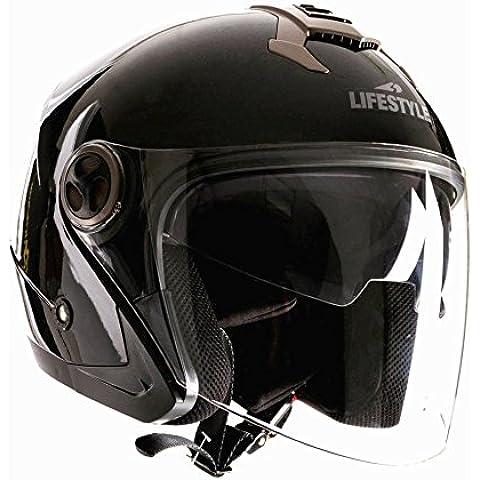 Lifestyle–Casco Jet Moto Scooter Ciudad ls-270con doble pantalla solar para hombre Mujer