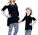 Best Shirts Mother Daughter - unniful Mother Daughter Fashion Cold Shoulder Long Sleeve Review