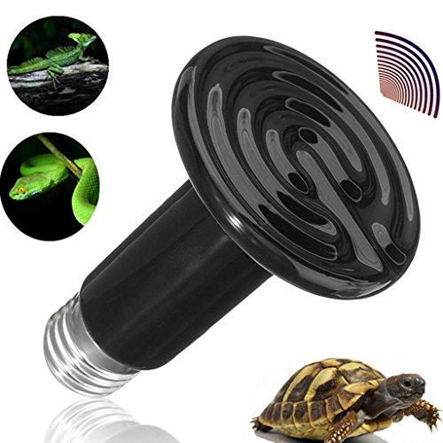 Schwarze Keramik Lampe (LQZ 100W Schwarze Keramik-Wärmelampe Heizstrahler Wärmelampe Dunkelstrahler Reptil Terriarien Heizung Lampe)