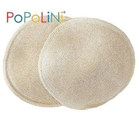 Les coussinets d'allaitement laine / soie tricoté Popolini 1 paire