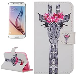 Crazy4Gadget Creative Horse Head Pattern Horizontal Flip Diamond Encrusted Leather Case with Holder & Wallet & Card Slots for Samsung Galaxy S6 / G920