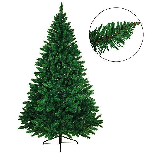 BB Sport Árbol navideño árbol de Navidad artificial abeto en diferentes tamaños y colores, Longitud:180 cm (1.030 puntas), Color:verde medio