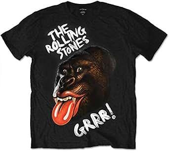 Bravado - T-shirt Homme - The Rolling Stones - GRRR Gorilla, Noir (Black), FR: Small