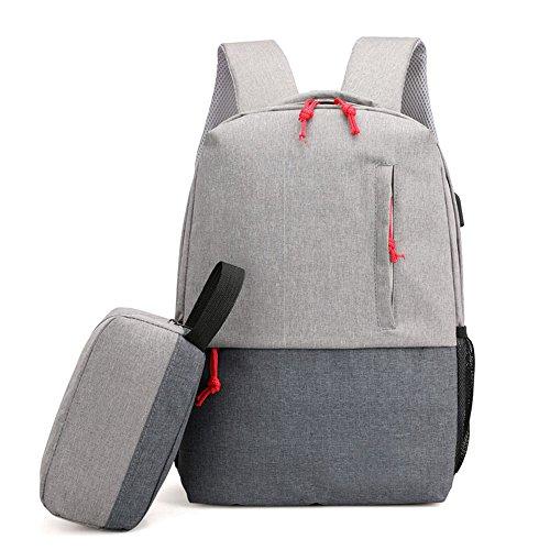 ALEILA Laptop-Rucksäcke Unisex Casual Rucksack Reisen Mit USB-Ladeanschluss Schultasche,Gray
