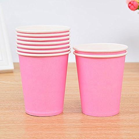 Tankerstreet jetables Rose gobelets en papier pour boissons chaudes froid, gobelets en papier Fête les pique-niques 255,1gram Lot de 8