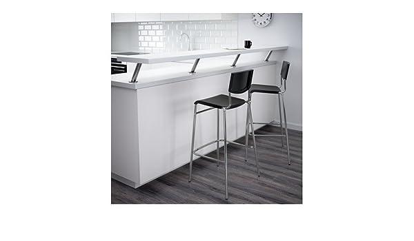 Ikea stig sgabello da bar con schienale nero cm colore