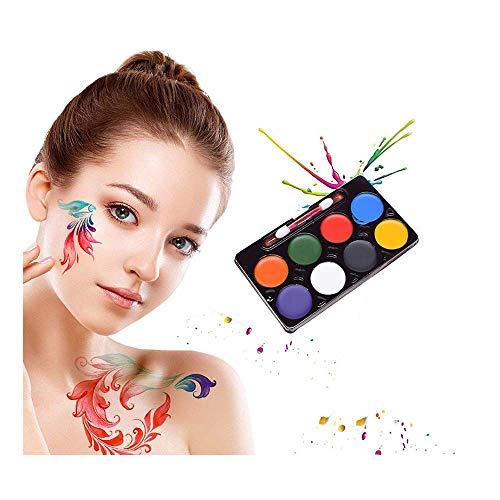 TXIN 8 Farben Professionelle Gesicht Körperbemalung Waschbar Gesichtsfarbe -