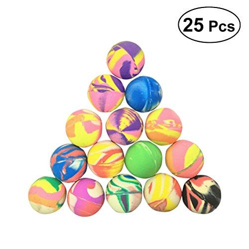 Toyvian 25 stücke Bounce Bouncy Ball Jet Balls Gummi-springende Bälle Kinder Kinder Bälle Spielzeug Mischfarbe -