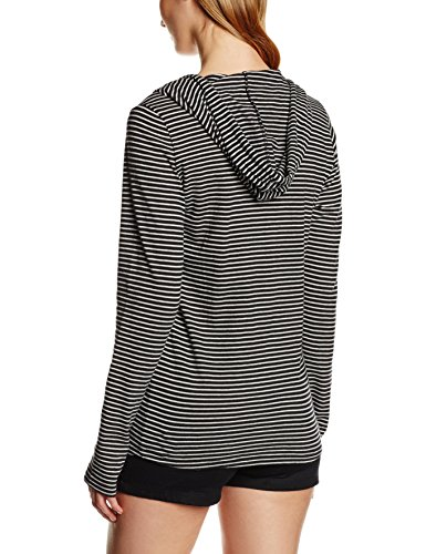 O'Neill Damen Langarm Shirt LW Marly Top Black Aop W/White