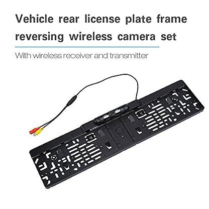 Qiilu-Auto-Fahrzeug-Wireless-Rckfahrkamera-Drahtlos-mit-Drahtloser-Empfnger-EU-Kennzeichen-IP68-170-grad