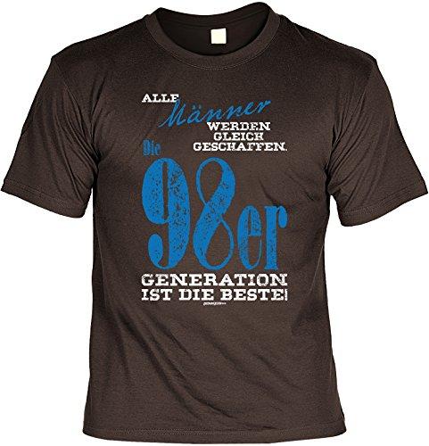 geiles T-Shirt zum 18. Geburtstag - Geschenk zum 18. Geburtstag 18 Jahre Geburtstagsgeschenk Freund Bruder 98er Generation Braun