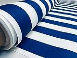 LushFabric Teflon-Stoff, wasserfest, gestreift, 4 cm breit,