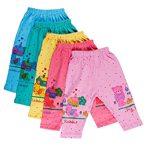 6e74a08fb4a8 Littly Unisex Cotton Pyjama Bottom (Pack of 5)(10177 Multicolor 18 ...