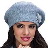 Kamea Rosa Baskenmütze Dame Kopfbedeckung Winter Herbst Dünn Musterlos EU