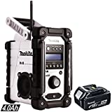 Makita DMR104W Job Site Radio with DAB White + 1 x BL1840 4.0Ah Battery