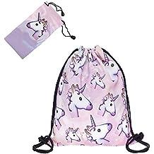 Smallbox Cute Funny de perro y Kitty serie Funny Life 3d impresión cordón mochila para Unisex