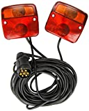 Streetwize SWTT22 Anhängerbeleuchtung / Rücklicht-Komplettset, magnetisch, mit 5-m-Kabel