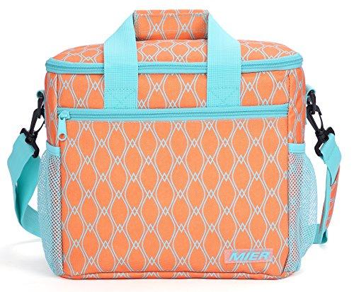 MIER 15L Große isolierte Mittagessen-Picknick-Kühltasche für Männer und Frauen, Orange, MEHRWEG