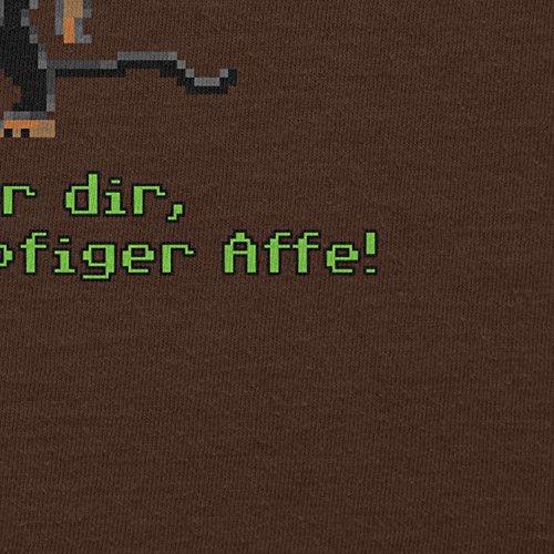 NERDO - Dreiköpfiger Affe - Damen T-Shirt Braun