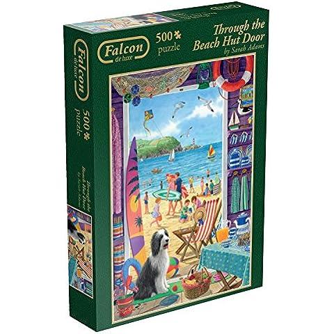 Juegos Jumbo Falcon de Luxe A través de The Beach Hut Puerta Jigsaw Puzzle (500 piezas)