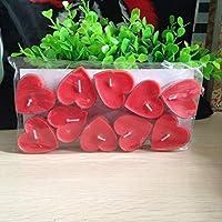 Provide The Best 10pcs paraffina Decorazione del Cuore Candele Decorative Romantica Candela a Forma di Partito