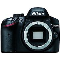 Nikon D3200 Body - Cámara digital (24.2 MP, SLR Body, CMOS, TTL, Autoenfoque continuo, Face tracking, Multi Point Auto Focus, Servo Auto Focus, Autoenfoque único, Manual) Negro (Reacondicionado Certificado)