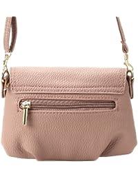 Bolso de Bandolera para Mujer con solapa Tamaño Pequeña Color Rosa