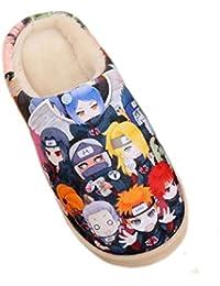 Bromeo BLACK ROCK SHOOTER Anime Super Suave Zapatillas de estar por casa Felpa Zapatos