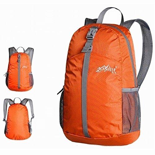 Imagen de mctech 20l ultraligero del recorrido del morral de nylon impermeable plegable para viajes de camping al aire libre deportes viajes ocho colores disponibles naranja