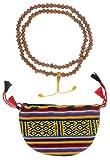 BUDDHAFIGUREN Cadena de oración budista - collar - semillas de Bodhi 8 mm con bolsa de Bhután