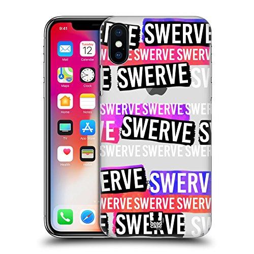 Head Case Designs Blah Slang Da Giovani Cover Retro Rigida per Apple iPhone X Swerve