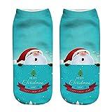 YWLINK Herren Damen Niedlich Niedrig Schnitt SöCkchen Weihnachten Komisch 3D Mode Drucken BeiläUfig Socken Unisex