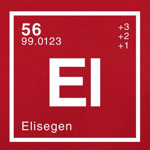 Elise Periodensystem - Herren T-Shirt - 13 Farben Rot