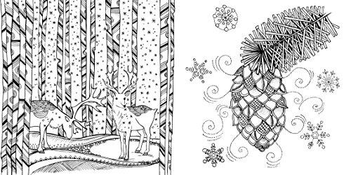 mein winterspaziergang ausmalen und durchatmen at shop ireland. Black Bedroom Furniture Sets. Home Design Ideas