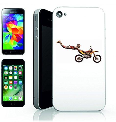 Smartphone Case Stuntman di motocross trucco di Salto del motociclo della bicicletta di sport della Corsa Per Apple iPhone 4/4S, 5/5S, 5C, 6/6S, 7& Samsung Galaxy S4, S5, S6, S6Edge, S7, S7Edge