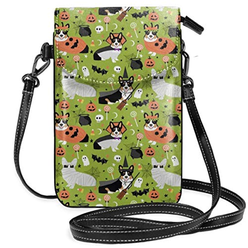 best pillow Tri Corgi Halloween Costumes Cute Dog Synthetic Leather Small Crossbody Bags Cell Phone Purse Wallet Smartphone Bags For Women