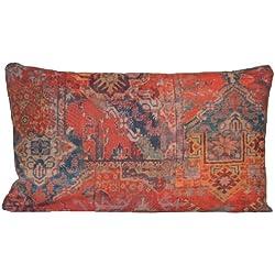 Ethnic alfombra roja funda para cojín decorativo almohada tela manta estilo marroquí 50,8 cm x 30,48 cm