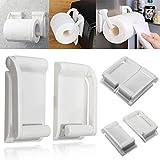 Set di accessori da bagno, porta carta igienica, Jaminy magnetico per rotolo di carta da cucina bagno Hold porta asciugamani porta rotolo di carta