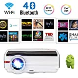 LCD Wireless Smart TV Projector with Bluetooth WiFi 5000 Lumens High Definition Home