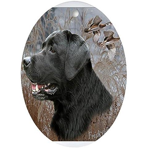 CafePress colore: nero Lab Hunts ovale Forma Ovale, vacanza decorazione natalizia