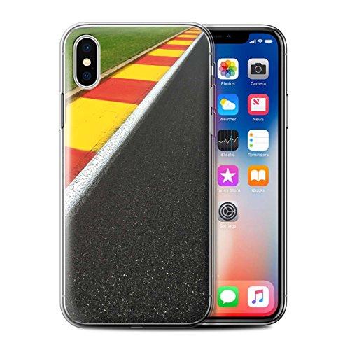 Stuff4 Gel TPU Hülle / Case für Apple iPhone X/10 / Start Ampel Muster / Rennstrecke Foto Kollektion Apex/Schikane