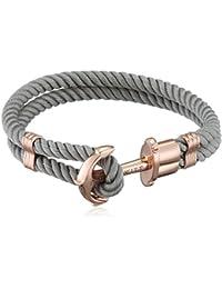 PAUL HEWITT Damen Ankerarmband PHREP aus Nylon in Grau und Anker in IP Roségold Größe XS bis XXXL