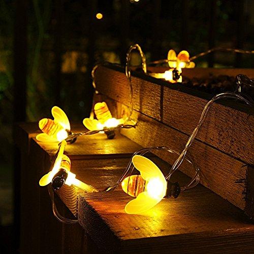 Fairy String Lights, Tolina LED-Honigbienen-Lichter für im Freien, Haus, Patio-Garten, batteriebetrieben (Haus Dekor Im Freien)