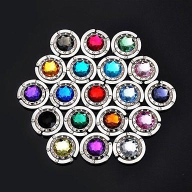 Multicolore Porte-Crochet Sac À Main De Sac De Cintre Cristal Hangbag (Couleur Aléatoire) 4,5 * 4,5 * 2 Cm