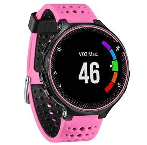für Garmin Forerunner 230/235/630,Culater Luxus Bunte Cool Weichem Silikon Ersatz Handgelenk Uhrenarmband Riemen (Rosa Ohne Werkzeuge)