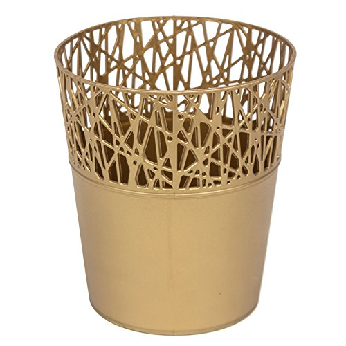 Rond cache-pot 18 cm CITY en plastique romantique style en dorée couleur